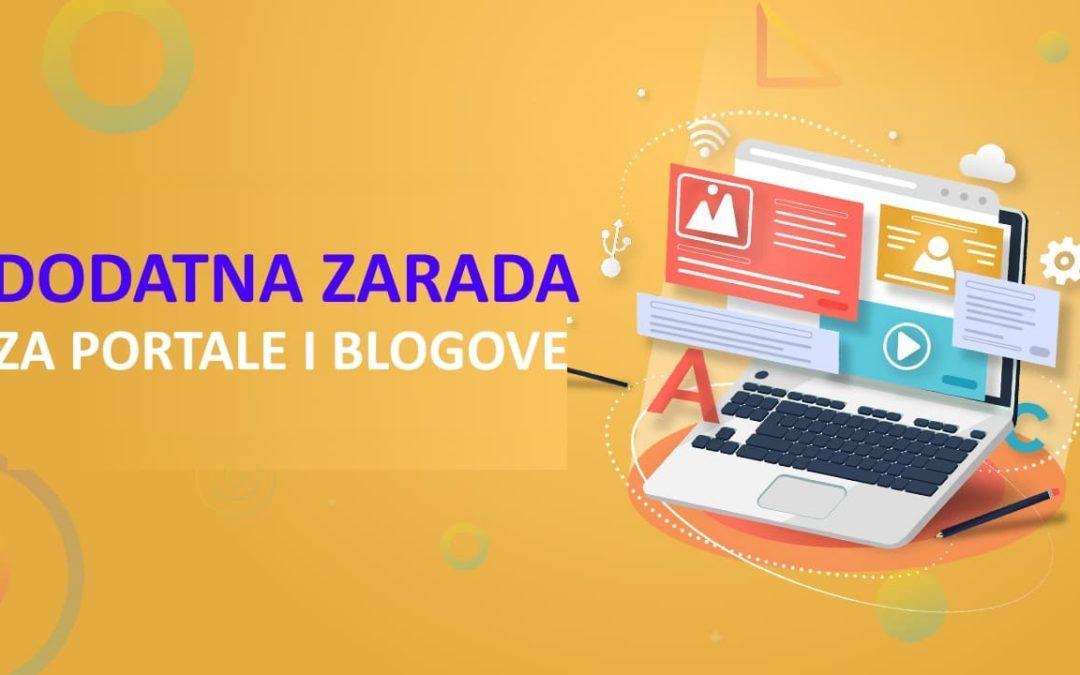 PREPORUKA/ Dodatni izvori zarade za domaće portale i blogove!